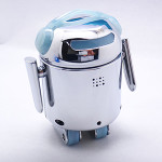 LIMITED EDITION Silver BERO - Be The Robot™ - Programmable robot, Infrared optical navigation system, 6 motors, high quality light blue shell + FREE World-wide shipping!
